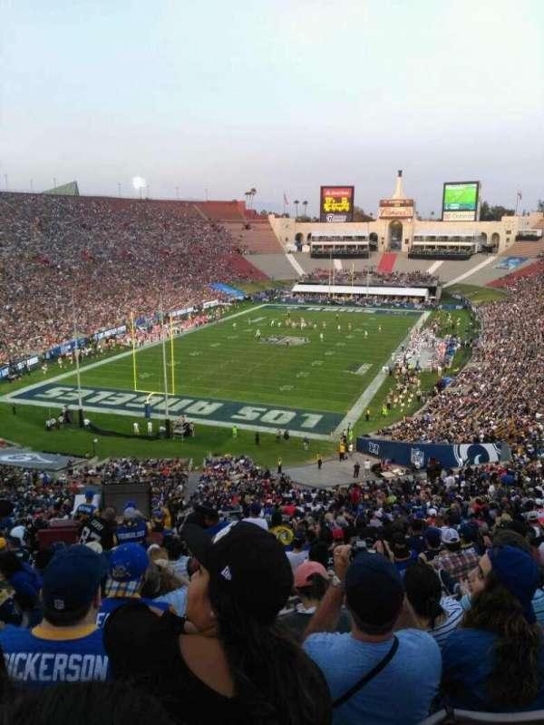 Los Angeles Memorial Coliseum, vak: 13H, rij: 73, stoel: 101