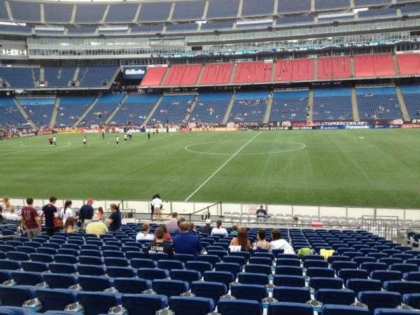 Gillette Stadium, vak: 131, rij: 20, stoel: 7