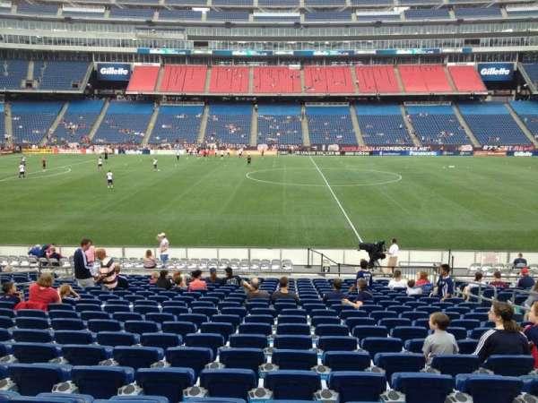 Gillette Stadium, vak: 132, rij: 20, stoel: 8