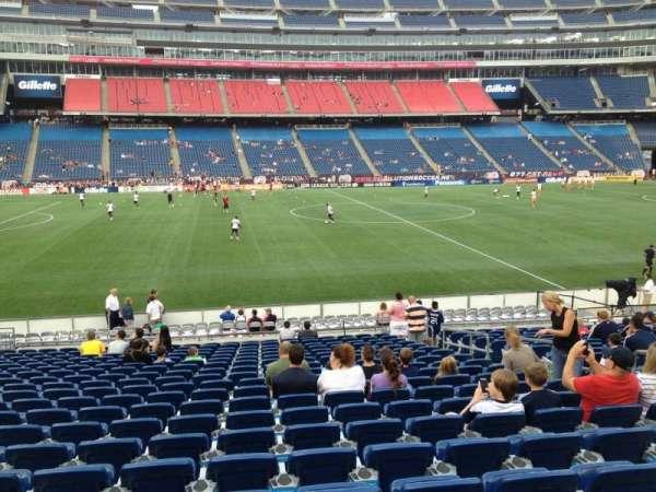 Gillette Stadium, vak: 133, rij: 20, stoel: 8