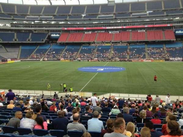 Gillette Stadium, vak: 109, rij: 24, stoel: 7