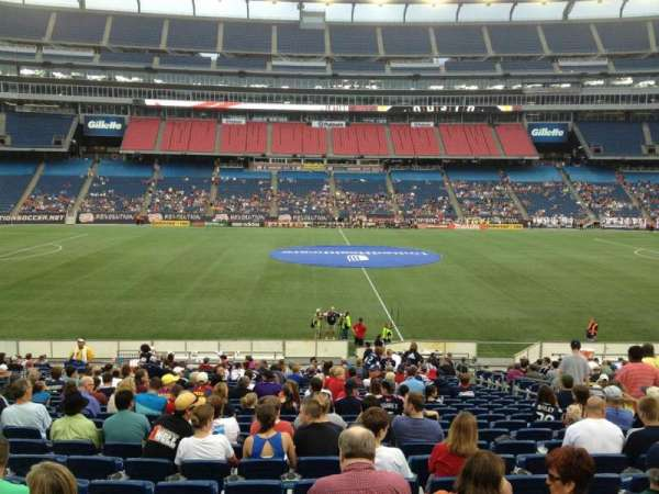 Gillette Stadium, vak: 110, rij: 24, stoel: 8