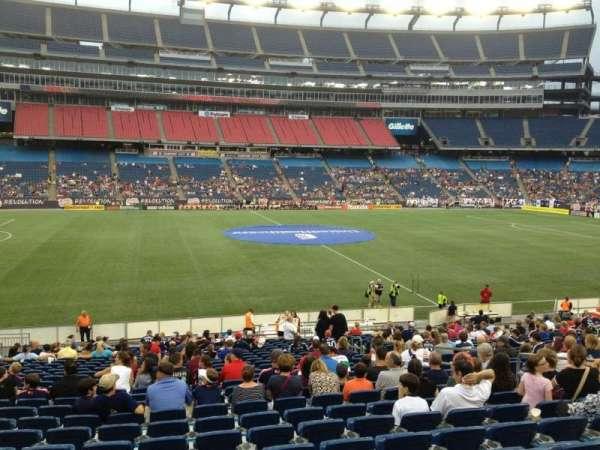 Gillette Stadium, vak: 111, rij: 24, stoel: 10