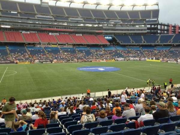 Gillette Stadium, vak: 112, rij: 24, stoel: 13