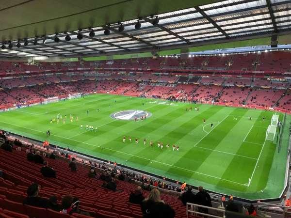 Emirates Stadium, vak: 109, rij: 20, stoel: 509