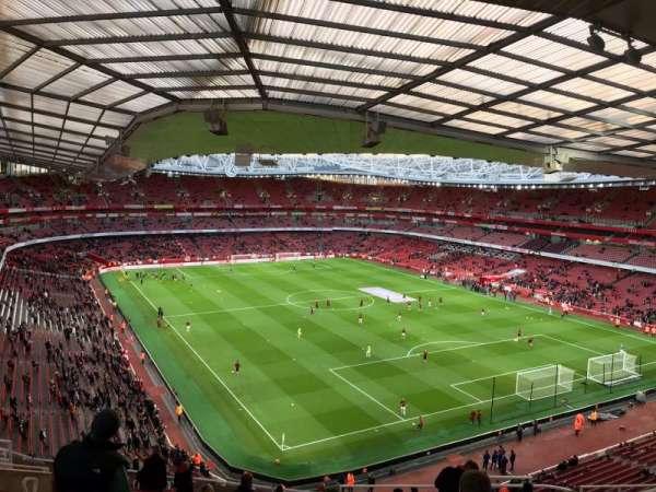 Emirates Stadium, vak: 105, rij: 19, stoel: 410