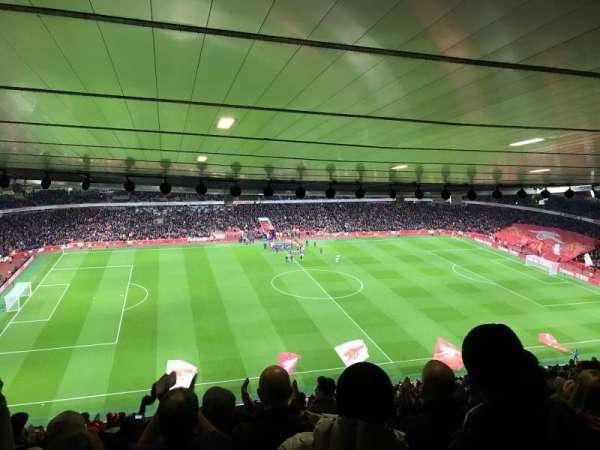 Emirates Stadium, vak: 114, rij: 30, stoel: 662