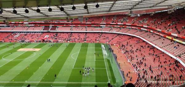 Emirates Stadium, vak: 110, rij: 25, stoel: 518