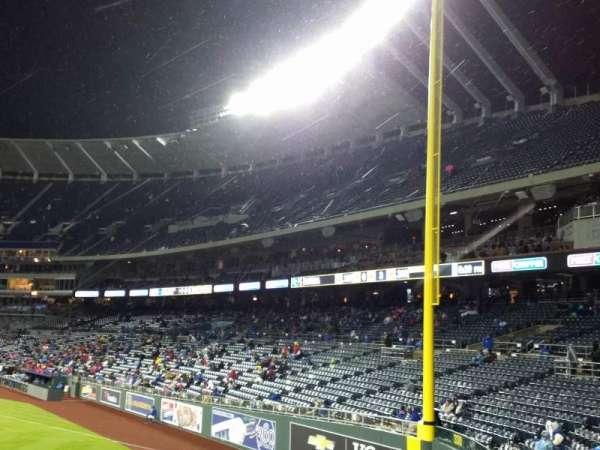 Kauffman Stadium, vak: 104, rij: a, stoel: 11
