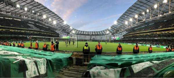 Aviva Stadium, vak: 114, rij: G, stoel: 14