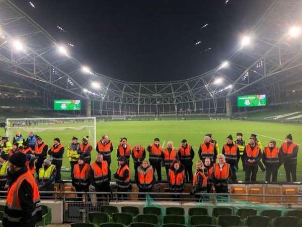 Aviva Stadium, vak: 114, rij: J, stoel: 11