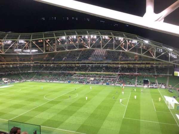Aviva Stadium, vak: 502, rij: E, stoel: 9