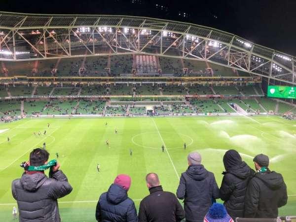 Aviva Stadium, vak: 505, rij: E, stoel: 16