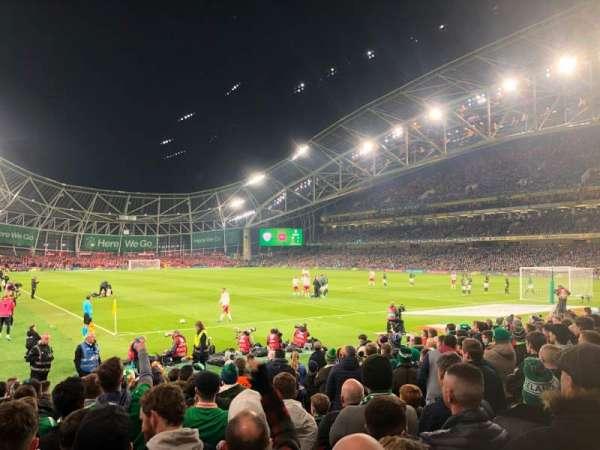 Aviva Stadium, vak: 117, rij: N, stoel: 21