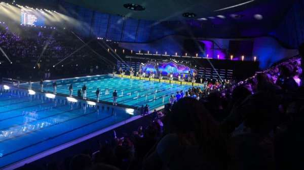 London Aquatics Centre, vak: F, rij: 8, stoel: 163