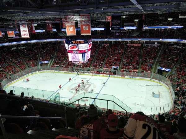 PNC Arena, vak: 322, rij: J, stoel: 14