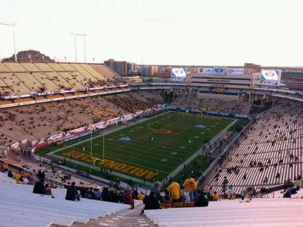 Sun Devil Stadium, vak: 218, rij: 27, stoel: 19