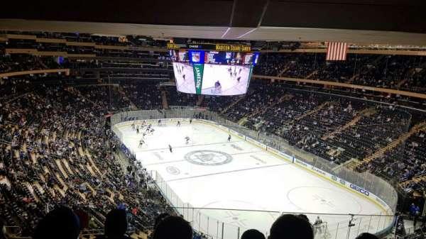 Madison Square Garden , vak: 414, rij: 4, stoel: 14