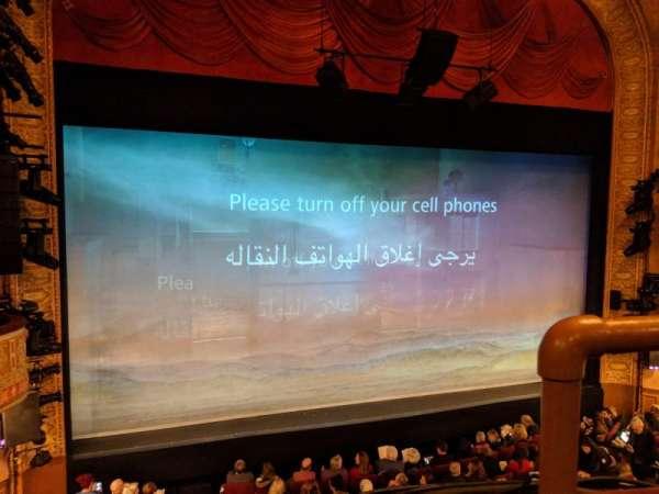 Ethel Barrymore Theatre, vak: Front Mezzanine L, rij: A, stoel: 1