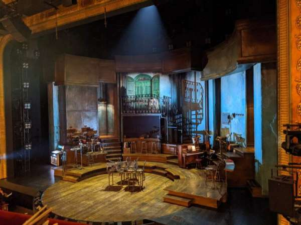 Walter Kerr Theatre, vak: Mezzanine R, rij: A, stoel: 10