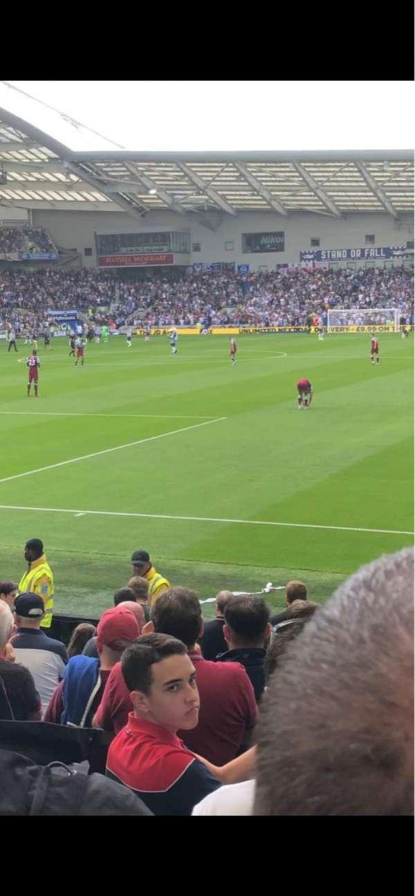 American Express Community Stadium, vak: South Stand, rij: M, stoel: 782