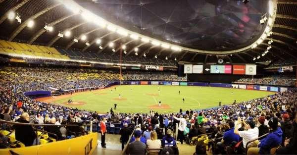 Olympic Stadium, Montreal, vak: 109, rij: M, stoel: 11