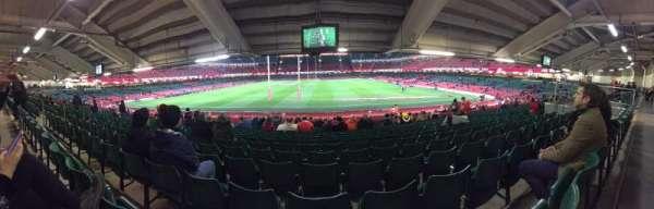 Principality Stadium, vak: L19, rij: 27, stoel: 11