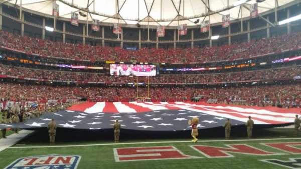 Georgia Dome, vak: 127, rij: 1, stoel: 2