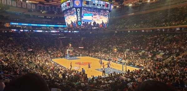 Madison Square Garden, vak: 110, rij: 18, stoel: 19