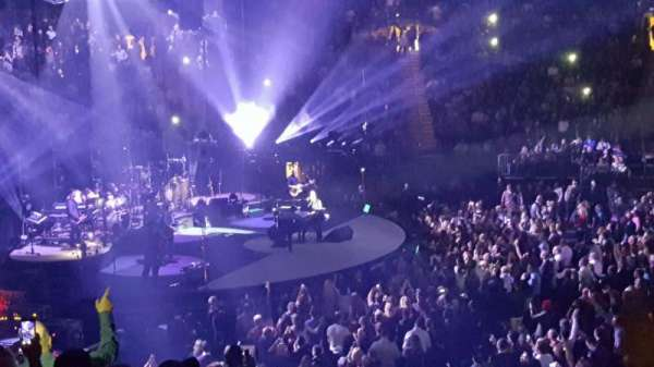 Madison Square Garden, vak: 116, rij: 17, stoel: 14