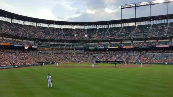 Oriole Park at Camden Yards, vak: 96, rij: 6, stoel: 17
