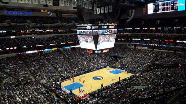 American Airlines Center, vak: 330, rij: A, stoel: 6