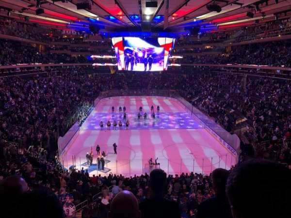 Madison Square Garden, vak: 417, rij: 4, stoel: 20