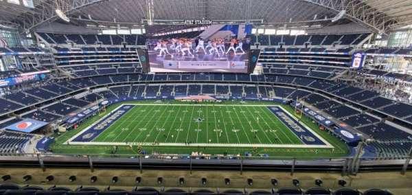 AT&T Stadium, vak: 443, rij: 4, stoel: 12