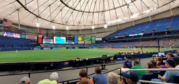 Tropicana Field, vak: 131, rij: K, stoel: 8