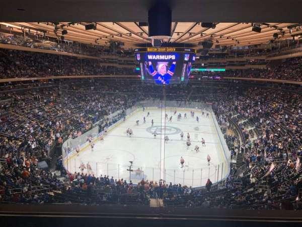 Madison Square Garden, vak: 218, rij: 4, stoel: 5