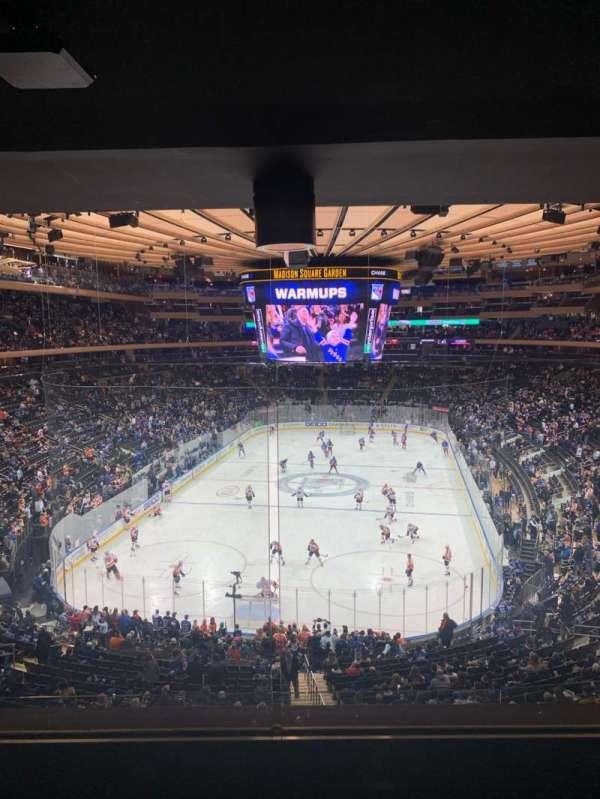 Madison Square Garden, vak: 218, rij: 4WC, stoel: 5