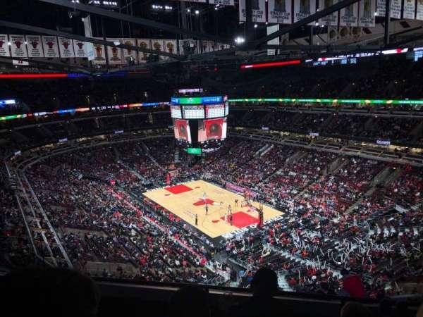 United Center, vak: 312, rij: 11, stoel: 14