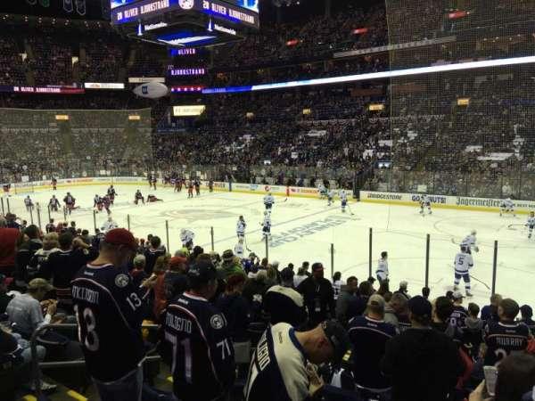 Nationwide Arena, vak: 112, rij: Q, stoel: 14