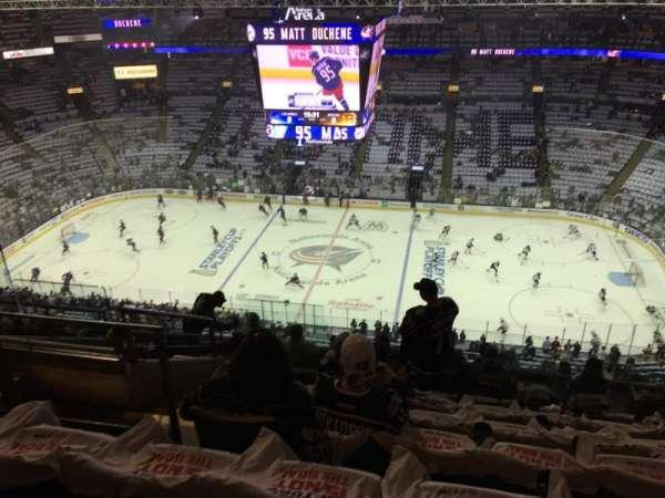 Nationwide Arena, vak: 216, rij: L, stoel: 18