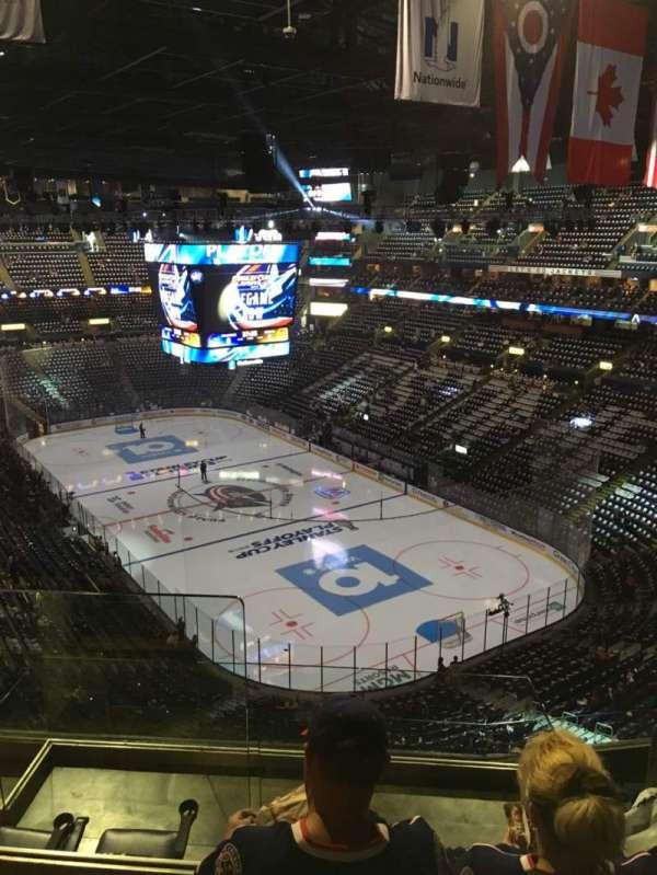 Nationwide Arena, vak: 212, rij: G, stoel: 14
