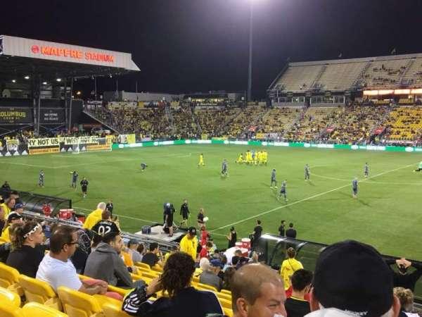 Mapfre Stadium, vak: 126, rij: 22, stoel: 1