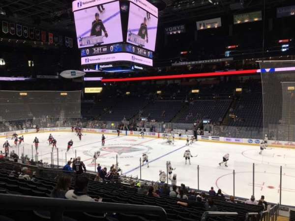 Nationwide Arena, vak: 112, rij: W, stoel: 26