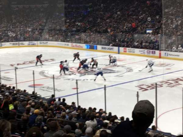 Nationwide Arena, vak: 112, rij: W, stoel: 5