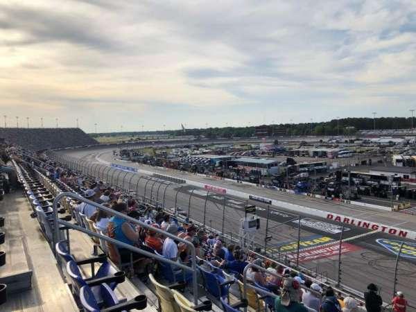 Darlington Raceway, vak: Tj, rij: 15, stoel: 16