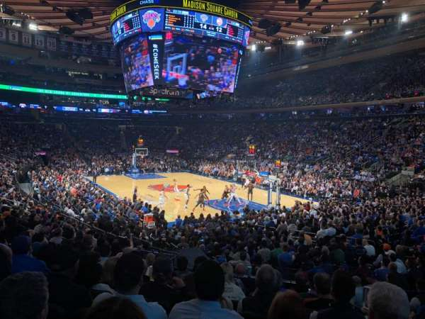 Madison Square Garden, vak: 110, rij: 13, stoel: 19