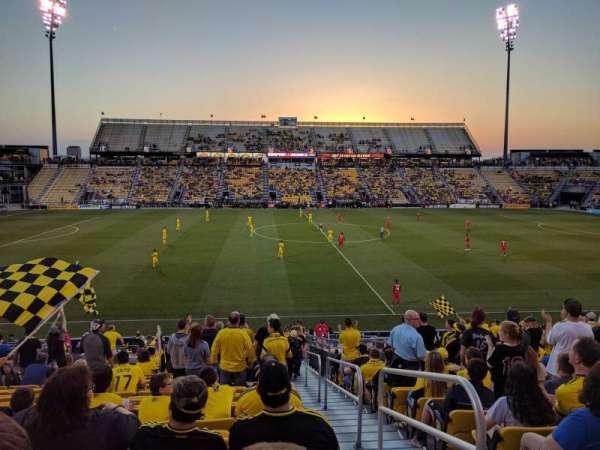 Mapfre Stadium, vak: 107, rij: 23, stoel: 1