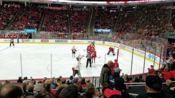 PNC Arena, vak: 117, rij: M, stoel: 3