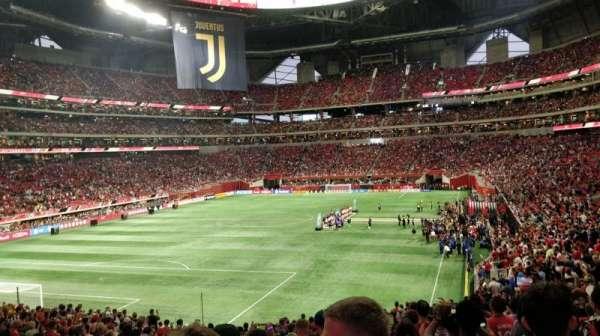 Mercedes-Benz Stadium, vak: 134, rij: 33, stoel: 38