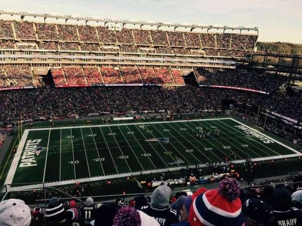 Gillette Stadium, vak: 334, rij: 17, stoel: 20